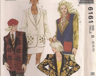 McCall's Sewing Pattern 6161 - Misses' Unlined Jacket (8-12)