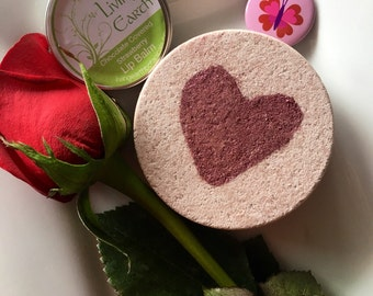 Valentines Day Gift Set, Bath Bomb and Lip Balm Gift Set, Chocolate and Strawberry Bath Bomb, Lip Balm Gift Set, Gifts for her