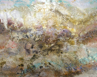 Original Seascape Art by Caroline ashwood - Textured and contemporary abstract painting on canvas - FREE SHIPPING