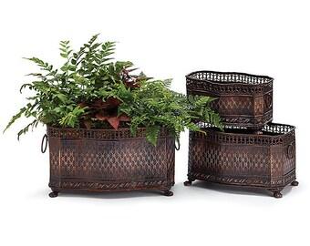 Wedding Reception Planters, Floral Planters Tin Planters, Claw Feet Planters, Flower Planters, Centerpiece Planters, Party Planters