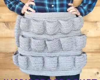 Crochet Egg Apron - Handmade - Adult size (19 eggs) , The Shorty (12 eggs), and Child Apron (10 eggs)