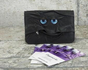 Business Card Case Holder Monster Black Leather One Of A Kind Business Gift Harry Potter Labyrinth