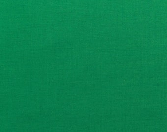45 Inch Poly Cotton Broadcloth Kelly Green Fabric by the yard - 1 Yard