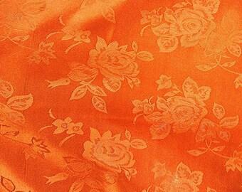 Brocade Jacquard Satin Orange 60 Inch Fabric by the Yard - 1 yard