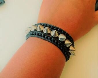 Unisex Bracelet, Teen Gift, His or Her Bracelet, Teen Jewelry, Spike bracelet, teen bracelet, Rocker jewelry, Spike Jewelry, Teen Rocker