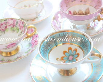 Vintage Footed Tea Cup and Saucer by Winterling, Marktleuthen Bavaria, Tea Party