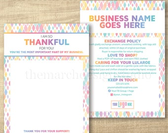 LuLa Thank You Care Cards, LLR Care Cards, Home Office Approved, approved colors fonts, LuLa Marketing Roe, LLR Marketing, Happiness Policy