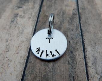 Zodiac Name Charm Add On - Name Charm for Key Chain - Keychain Name Charm