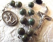 St. Andrew Green Stone Rosary Tenner
