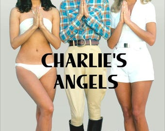 "Charlie's Angels Classic ""Angels Praying Reproduction Stand-Up Display - Gift Collectibles Collection Memorabilia Poster Television Retro"