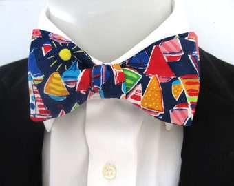 Men's bowtie - sailing boats - yatching - seaside special