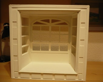 Bed with bookcase, scale 1: 6 for pullip and blythe , momoko, barbie, licca, azone, pure neemo etc