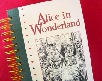 Alice in Wonderland book journal diary planner log altered book