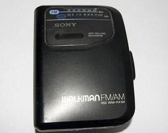 Vintage Sony Walkman Portable WM-FX101 Am/Fm Radio Only