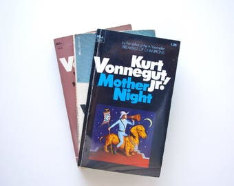 Kurt Vonnegut - 3 Vintage Vonnegut Books - Mother Night, Slaughterhouse Five, Welcome to the Monkey House