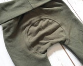 Miniloones Grow With Me Pants Solid Olive Green Baby Pants