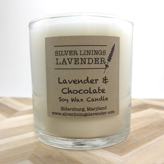Lavender & Chocolate Soy Wax Candle