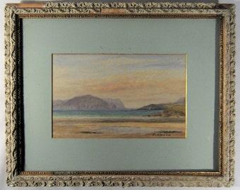 Watercolor California Coastal Mid Century