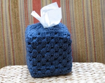 Tissue Box Cover Cozy - Royal Blue Home Decor