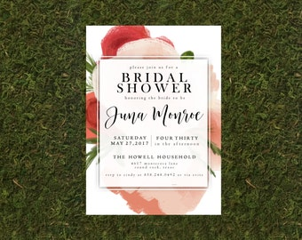 Watercolor Floral Bridal Shower