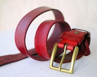 """Vintage Genuine Leather Belt, Waist 36""""- 40"""""""
