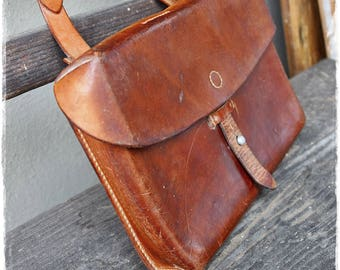 Swiss army leather bag vintage