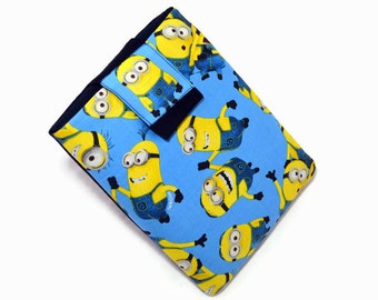 Tablet Case, iPad Cover, Minions, Despicable Me,  Kindle Fire Sleeve, iPad Mini Case, Tablet Sleeve, Cozy, Handmade, FOAM Padding, Gift