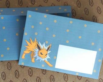 Pokemon envelopes set - cute jolteon - otaku anime manga kawaii