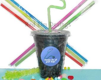 Nurse Party Cups, Nurse Cups, Kids Birthday Party Cups, 20 Cups, Hospital Kids Party Cups, Straws and Lids, 12 Ounce Cups