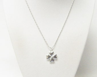 Sterling Silver 4 Leaf Clover Charm Necklace