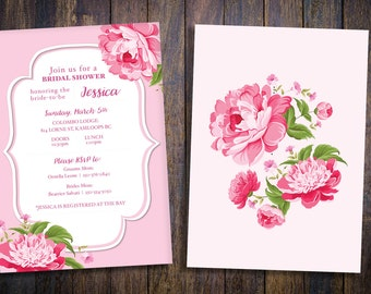 Bridal Shower Invitation, Bridal Shower Invite, Printable Bridal Shower Invitation, Floral Bridal Shower