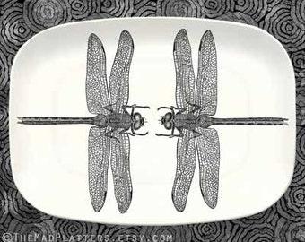 dragonflies melamine platter