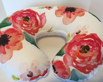 Floral Dreams Boppy Cover With Personalization Option