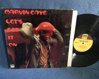 """RARE, Vintage, Marvin Gaye - """"Let's Get It On"""", Vinyl LP, Record Album, Original 1973 First Press, Come Get To This, Classic Funk, Soul, R&B"""