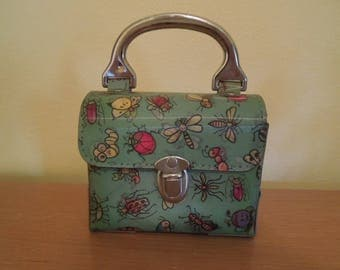 Rare 1970s Flicker Purse Bag Anthropomorphic Insects Made in USA