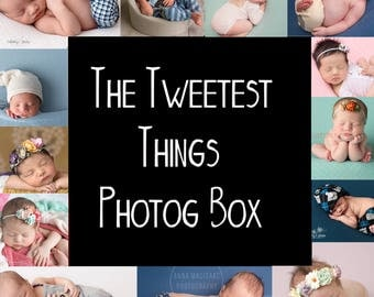 The Tweetest Things Photog Box (mixed) - rompers, pants, halos, headbands - 140+ for only 90 (or less)  **NO ADDITIONAL DISCOUNTS**