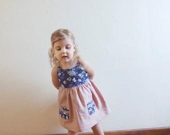 Zinnia Dress PDF Pattern - Girls Summer Dress Pattern - Sizes NB to girls 14 -