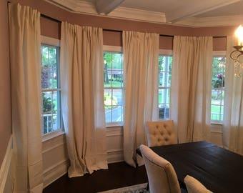 iron rod custom made bay window rod wrought iron bay drapery curtain rod custom