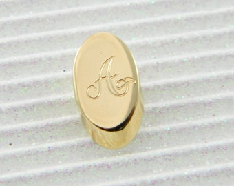 "Gold Monogram ""A"" Lapel Pin - Personalized Initial ""A"" Tie Tack"