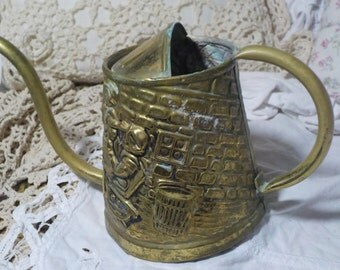 Vintage Brass Watering Pitcher made in England/Not Included in Coupon Discount Sale