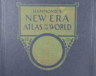 HAMMOND'S New Era Atlas of the World c.1945