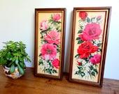 Vintage Red & Pink Floral Print Duo