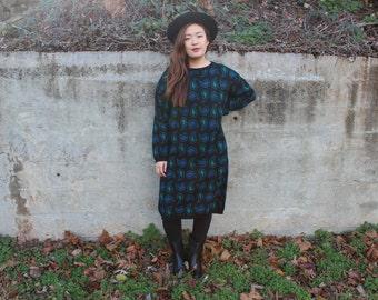 Paisley Print Sweater Dress