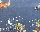 1/2 Yard Organic cotton, Monaluna, Night Garden