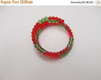 On Sale Flexible Plastic Beaded Twist Bracelet Item K # 3187