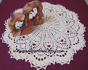 CAFE AU LAIT Remastered Doily .Pdf pattern, Crochet; Patricia Kristoffersen, Rug Decor, Farmhouse decoration; textured design; home decor
