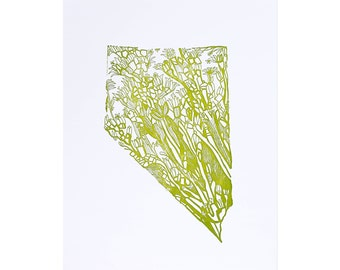 Letterpress Nevada Sagebrush