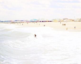 Jersey Shore, Coastal decor, beach scene, Point Pleasant, Surfing, Jenkinsons