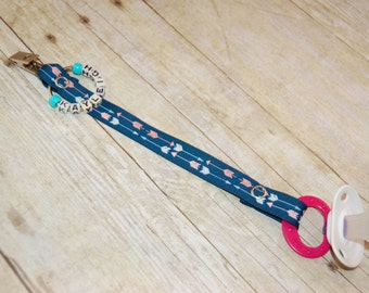 Pacifier Clip , Arrow 4, Personalization Available, Ready to Ship