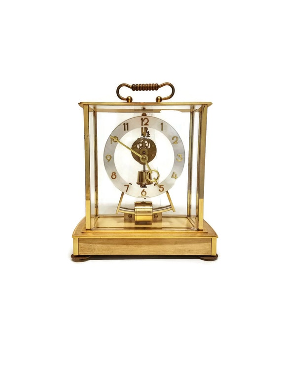 "Kundo Clock Vintage Skeleton Electro-Mechanical Kieninger Obergfell Electronic Impulse Mantle Clock-""Ships International"""